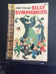 Silly Symphonies #7 (1957) Affordable grade Pinocchio, Jiminy cricket key! VG