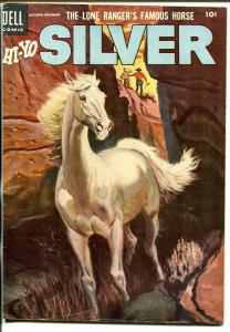 Lone Rangers Famous Horse Hi-Yo Silver-#12 1954-Dell-painted cover-FN