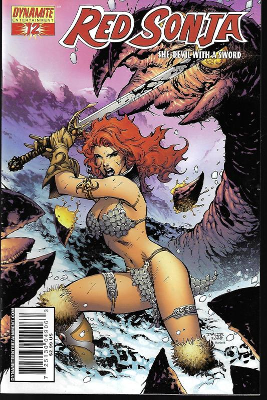 Red Sonja #12 (Dynamite Entertainment) - Jim Lee Virgin Incentive 1 in 25