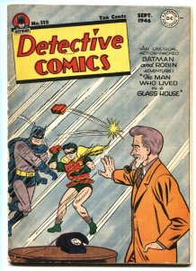 Detective #115 Batman and Robin-Air Wave-DC Golden-Age comic book