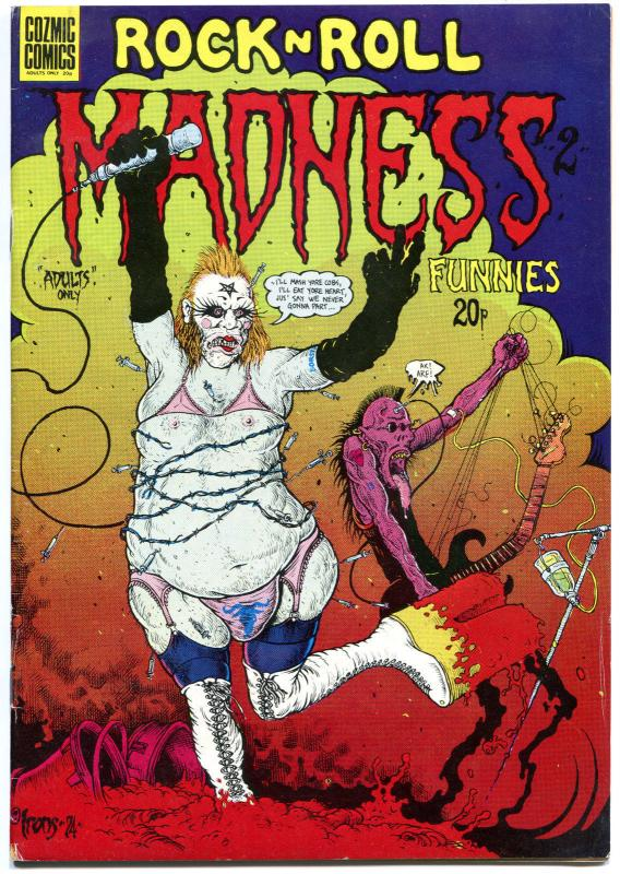 ROCK N ROLL MADNESS #2, FN, Underground, Dave Gibbons, 1974, more UG in store