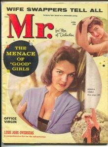 Mr. 4/1960-cheesecake-Donna Noble-spicy pulp thrills-James Arness wife-VG-