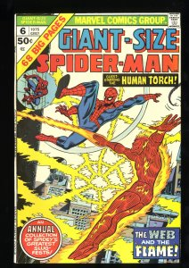 Giant-Size Spider-Man #6 NM- 9.2 Human Torch!