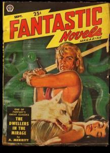 FANTASTIC NOVELS 1949 SEP-VIRGIL FINLAY ART-OCCULT PULP FN