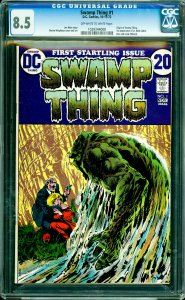 Swamp Thing #1 CGC Graded 8.5 Origin of Swamp Thing. 1st appearance of Lt. Ma...