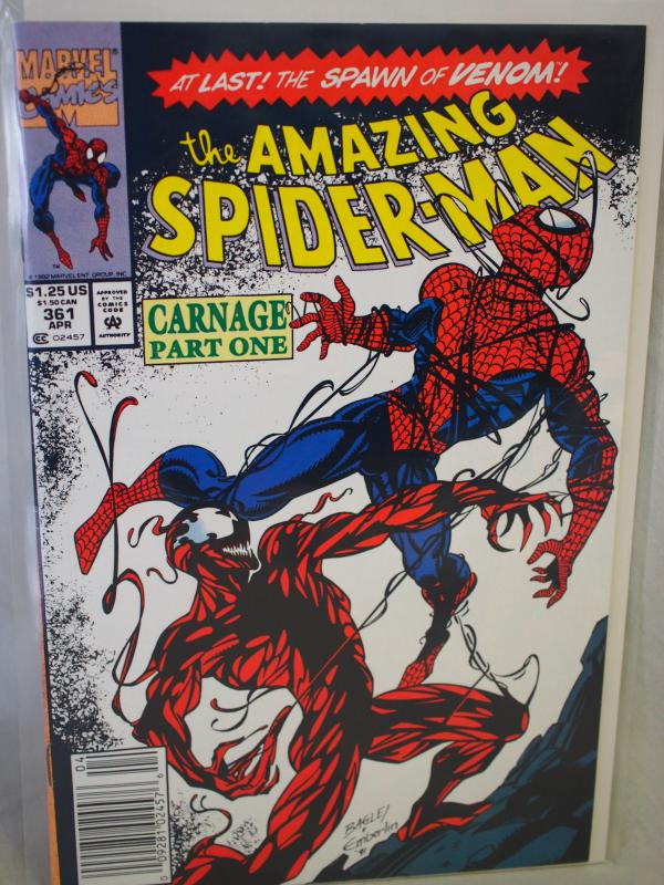 The Amazing Spider-Man  #361  VF Unread condition.  First Carnage!