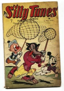 SILLY TUNES #1 1945-FUNNY ANIMAL-ZIGGY PIG-TIMELY FIRST ISSUE G/VG