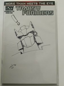 TRANSFORMERS MORE THAN MEETS THE EYE 1 Burcham 1:50 RI Hand Drawn Sketch Variant