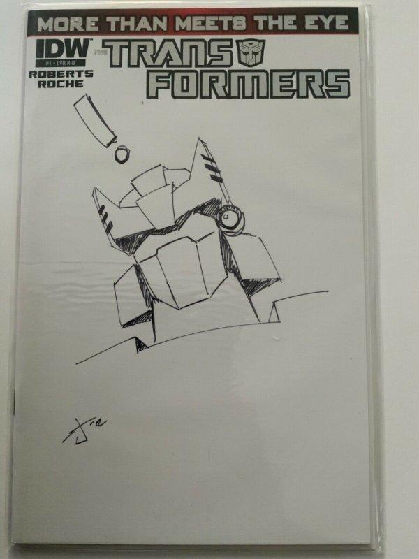 TRANSFORMERS MORE THAN MEETS THE EYE 1 Burcham 1:50 RI Hand Drawn Sketch Variant