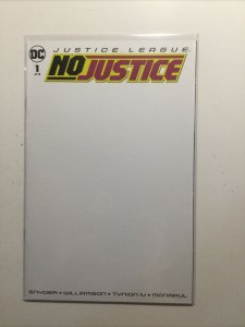 Justice League No Justice 1 Near Mint Nm Blank Variant Dc Comics