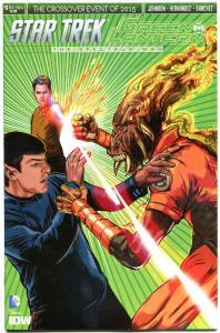 STAR TREK GREEN LANTERN #3 A, NM, Spock, Kirk, War, 2015, IDW, more in store