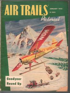 Air Trails Pictorial 1/1950-aviation news-pix-flying Santa Claus-Tinsley-VG