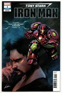Tony Stark Iron Man #1 Hulkbuster Armor Variant (Marvel, 2018) VF/NM