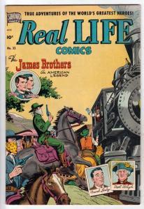 Real Life Comcs #55 (Jan-51) VF High-Grade Frank and Jesse James, Frank Leahy...