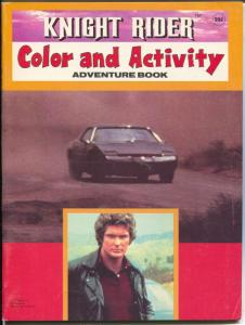 Knight Rider Color and Paint Book #2 1983-Pontiac Trans Am-Hasselhoff-FN-