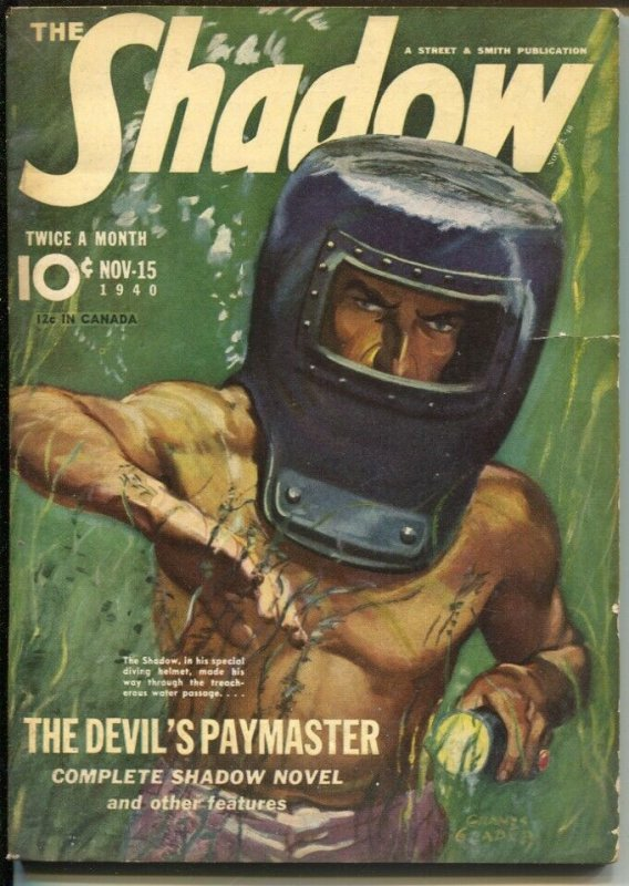 The Shadow 11/15/1940-The Devil's Paymaster-pulp thrills-VG+