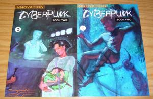 CyberPunk Book Two #1-2 VF/NM complete series - innovation science fiction set
