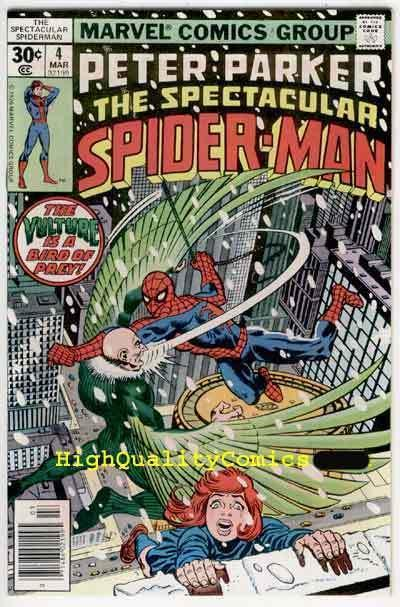 SPECTACULAR SPIDER-MAN #4, NM+, Vulture, Buscema, 1976, more SM in store