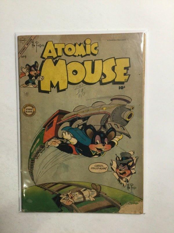 Atomic Mouse 9 Good- Gd- 1.8 Charlton Publication