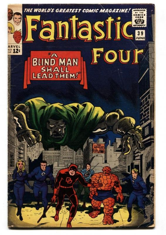 FANTASTIC FOUR #39 comic book vg 1965-MARVEL-SILVER-AGE
