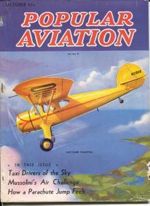 Popular Aviation 10/1937-H.-R. Bollin cover-Luscambe Phantom-Mussolini-G