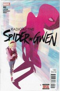 Spider-Gwen #2 (2016 v2) Jason Latour Captain America NM