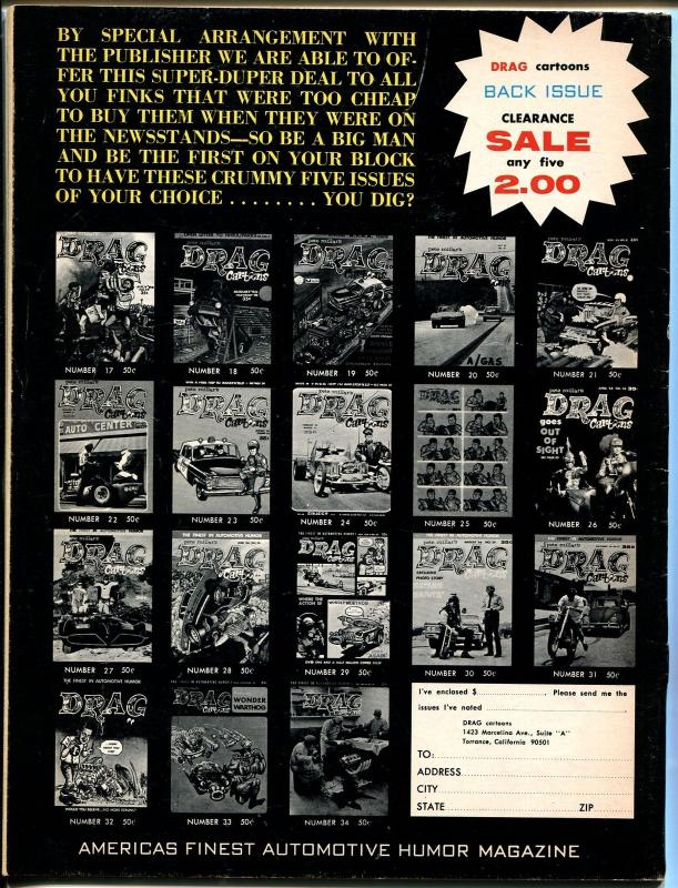 Drag Cartoons #35 1967-Tom Bell-Wonder Warthog-Gilbert Shelton-VF