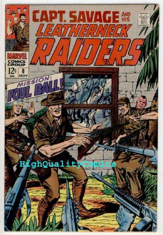 CAPTAIN SAVAGE #8-9, Leathernecks, Battlefield, Gun-Runner, 1968, Dick Ayers