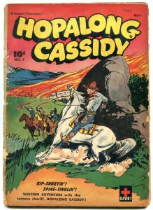 Hopalong Cassidy #7 1947- Golden Age Western Comic reading copy