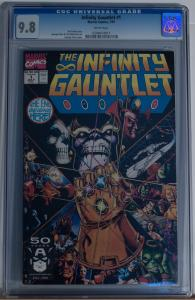 INFINITY GAUNTLET #1, CGC = 9.8, NM/M, Thanos, Avengers, 1991 , more in store