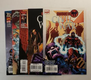 HOUSE OF M CIVIL WAR #1-5 COMPLETE SET MARVEL COMICS 2008 NM AVERAGE