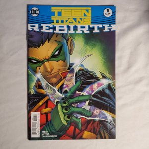 Teen Titans Rebirth 1 Very Fine+ Cover by Jonboy Meyers