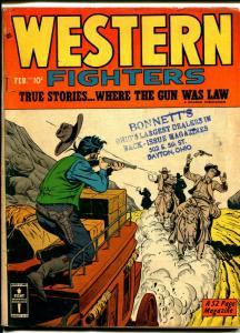 Western Fighters Vol. 2 #3 1950-Hillman-violent western thrills-Billy The Kid-VG