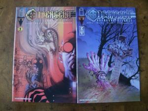 2 IMAGE Comic Book: (2001) OBERGEIST RAGNAROK HIGHWAY #1 #2