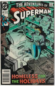 The Adventures Of Superman #462 Homeless For The Holidays January 1990 DC