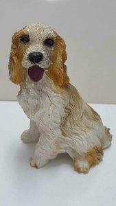 Figura perro de resina: Cocker Spaniel Ingles de 8x6 cm