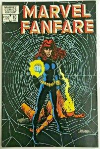 MARVEL FANFARE#10 VF 1983 BLACK WIDOW MARVEL COMICS