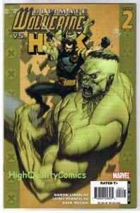 ULTIMATE WOLVERINE vs HULK #2, NM+, Claws vs Brawn, 2006, more in store