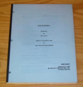 Watchmen Screenplay from 1988 unfilmed movie script - sam hamm - alan moore RARE