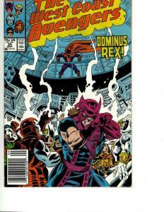 11 Marvel Comics West Coast Avengers # 24 26 27 28 29 30 31 33 35 36 38 WS13
