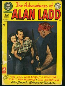 ADVENTURES OF ALAN LADD #3-D.C.-1950-PHOTO COVER FR/G