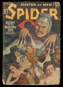 THE SPIDER APR 1939 ASIAN MENACE COVER STOCKBRIDGE PULP G-