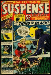 Suspense #4 1950- Atlas Horror- Man in Black- Hooded menace- Maneely VG-