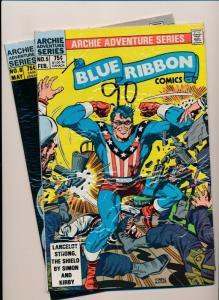 BLUE RIBBON COMICS Archie Adventure Series #5,8 FINE/VERY FINE (PF110)