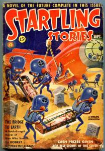 Startling Stories September 1939- Robert Moore Williams- Wild cover reading copy