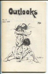 Outlooks #2 1975-Frank Frazetta cover-Neal Adams-Sergio Aragones-Lein Wein-FN/VF