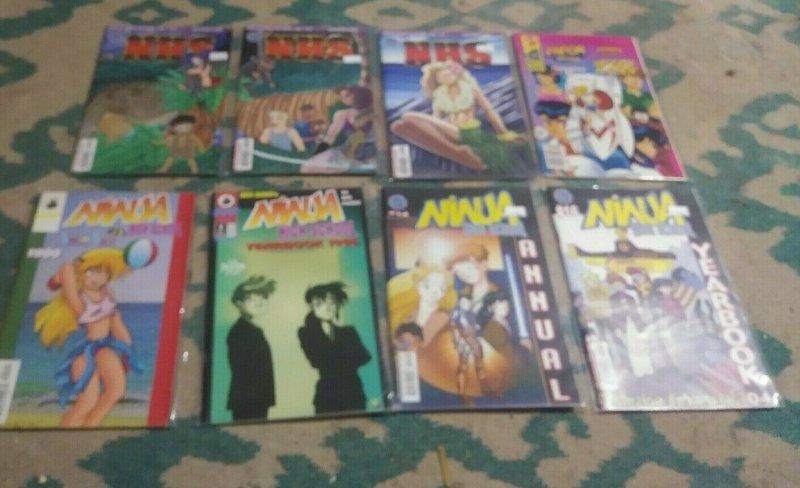NINJA HIGH SCHOOL # 1,46-121+1995  YEARBOOKS + BEN DUNN JAPANESE ANIME  SWIMSUIT