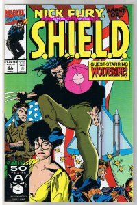 NICK FURY Agend of SHIELD #27, NM+, Wolverine,Eyepatch, Cigar,1989,more in store