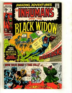 Amazing Adventures # 4 FN Marvel Comic Book Feat. Inhumans Medusa Black Bolt GK1