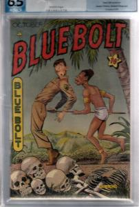 Blue Bolt PGX #4 (Oct-45) FN+ Mid-High-Grade Dick Cole, Blue Bolt The American